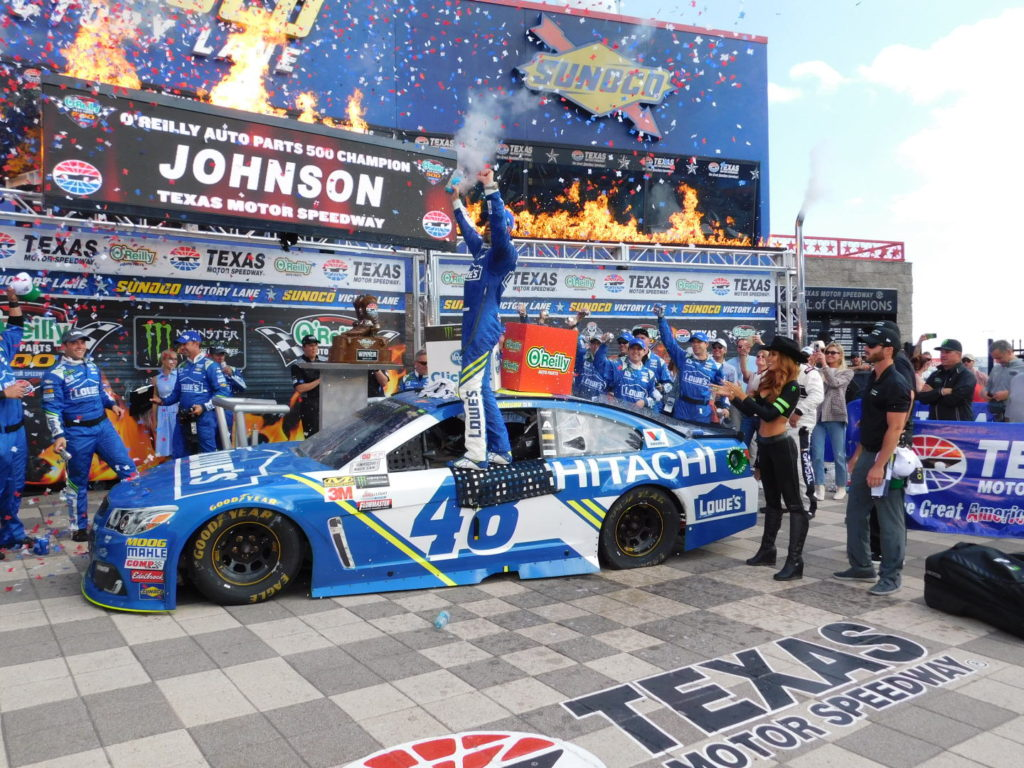 Jimmie Johnson wins at Texas Motor Speedway