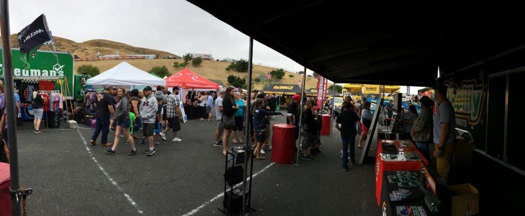 Fans enjoy the midway display at Sonoma Raceway on June 24-25, 2017