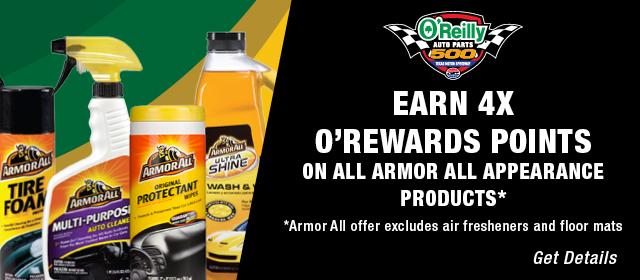 Earn 4X O'Rewards Points on All Armor All Appearance Products* *Armor All offer excludes air fresheners and floor mats. GET DETAILS
