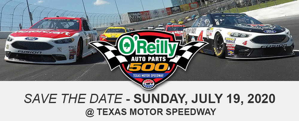 Save The Date - Sunday, July 19th at Texas Motor Speedway